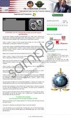 FBI Cybercrime Division Virus Removal Guide