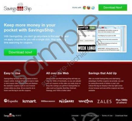 SavingsShip Removal Guide