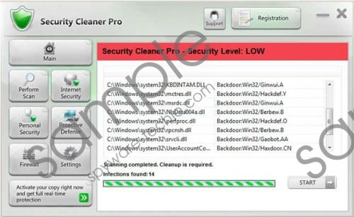 Security Cleaner Pro Removal Guide
