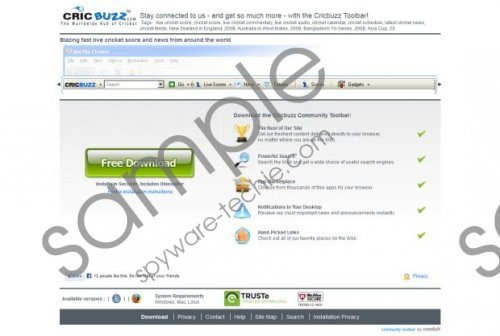 CricBuzz Toolbar Removal Guide