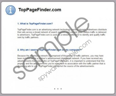 TopPageFinder Removal Guide