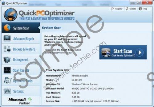 QuickPCOptimizer Removal Guide