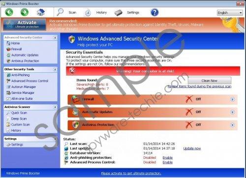 Windows Prime Booster Removal Guide