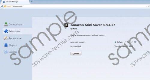 Amazon Mini Saver Removal Guide
