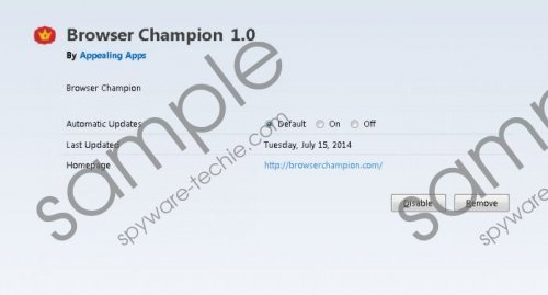 Browser Champion Removal Guide