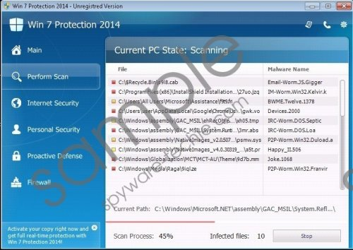 Win 7 Protection 2014 Removal Guide