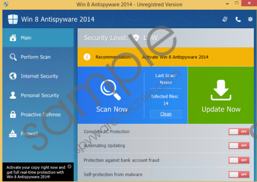 Win 8 Antispyware 2014 Removal Guide