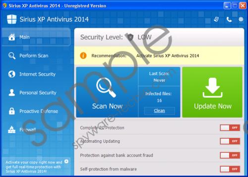 Sirius Win XP Antispyware 2014 Removal Guide