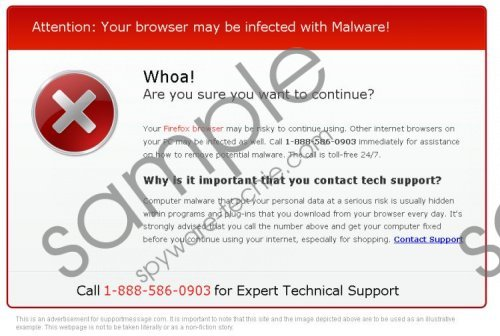 Technical Support Scam message Removal Guide