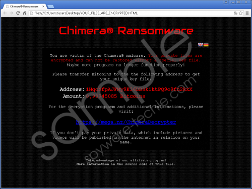 Chimera Ransomware Removal Guide
