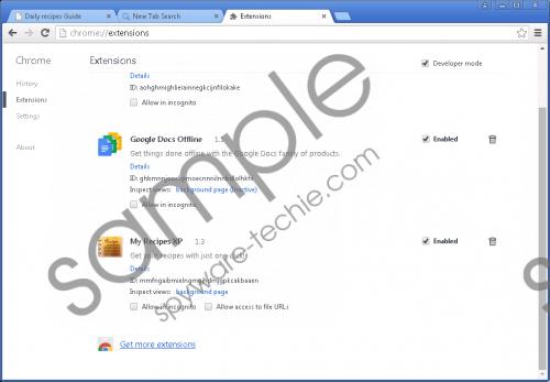 Search.myrecipesxp.com Removal Guide