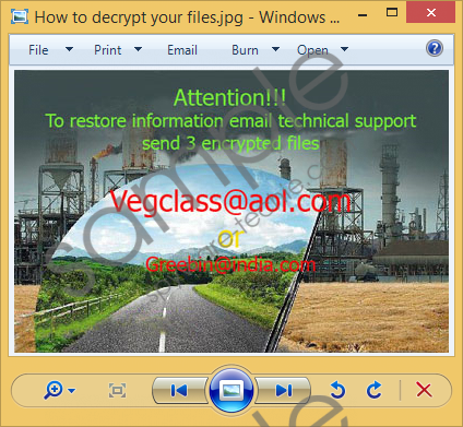 Vegclass@aol.com Ransomware Removal Guide