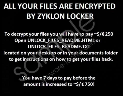 Zyklon Ransomware Removal Guide
