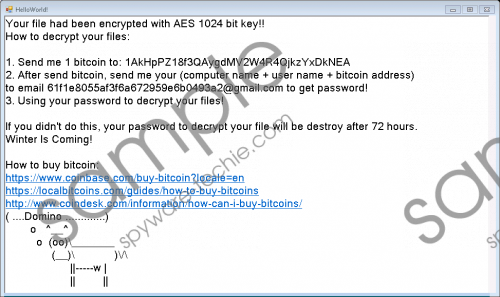 Domino Ransomware Removal Guide