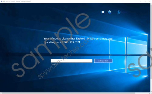 License has Expired +1-888-303-5121 Removal Guide