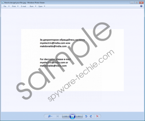 Makdonalds@india.com Ransomware Removal Guide