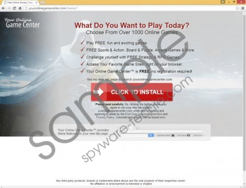 Search.youronlinegamecenter.com Removal Guide