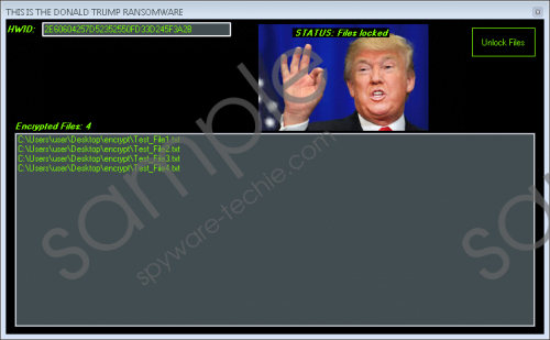 Donald Trump Ransomware Removal Guide