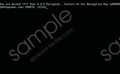 HDD Encrypt Ransomware Removal Guide