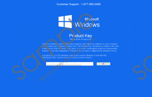 Fake Windows Defender Prevented Malicious Software Tech Support Removal Guide
