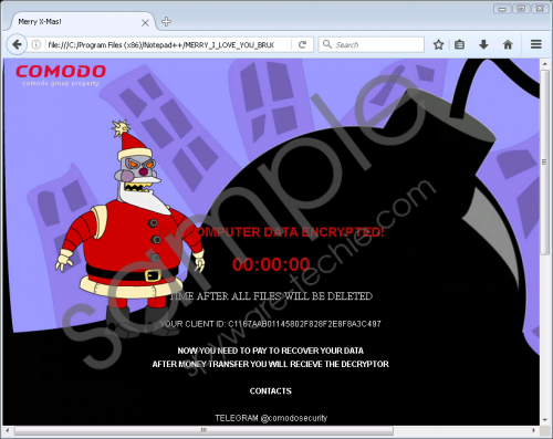 Merry X-Mas Ransomware Removal Guide
