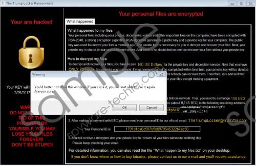 Trump Locker Ransomware Removal Guide