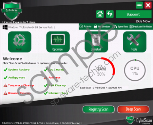CyboScan PC Optimizer Removal Guide
