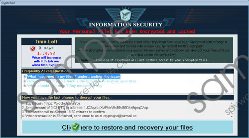 CryptoGod Ransomware Removal Guide