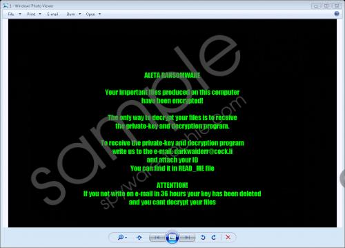 Aleta Ransomware Removal Guide