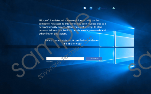Microsoft certified technician on 1-888-534-6135 Removal Guide
