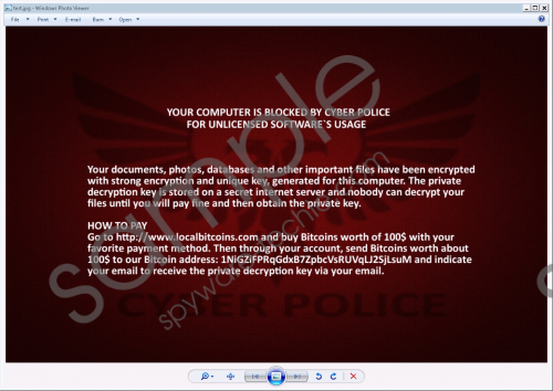 Cyber Police Ransomware Removal Guide