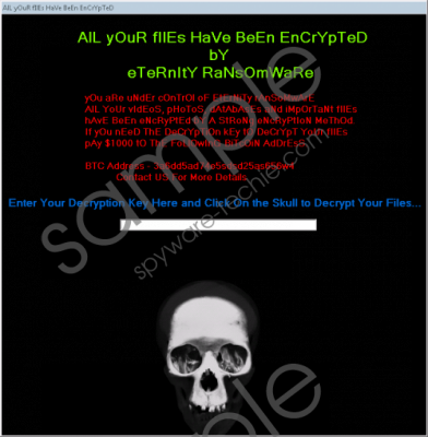 Eternity Ransomware Removal Guide