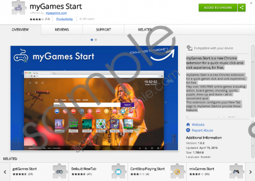 myGames Start Extension Removal Guide