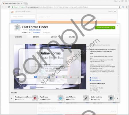 FastFormFinder Removal Guide
