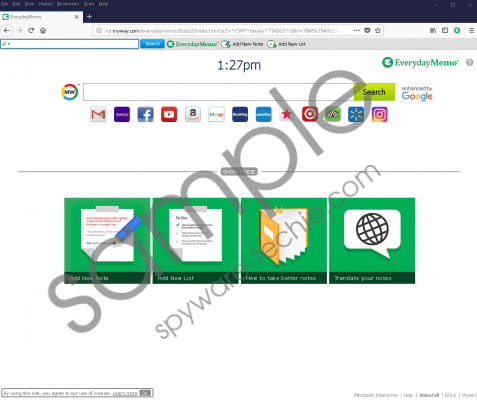 EverydayMemo Toolbar Removal Guide