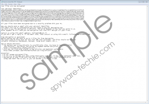 Scarab-Lolita Ransomware Removal Guide
