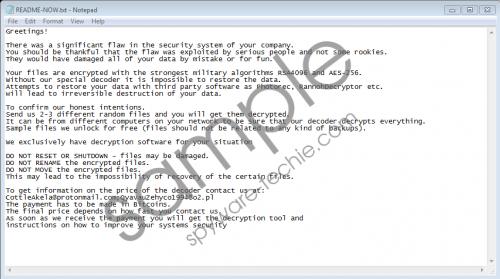 LockerGoga Ransomware Removal Guide