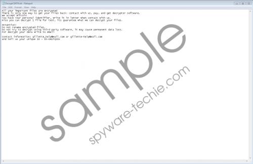Gillette Ransomware Removal Guide