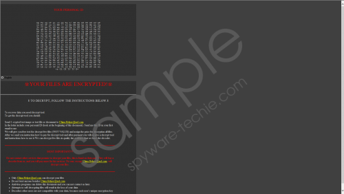 Rooster865qq Ransomware Removal Guide