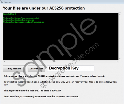 JackSparrow Ransomware Removal Guide