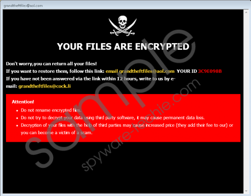 GTF Ransomware Removal Guide
