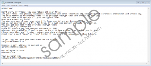 Sarut Ransomware Removal Guide